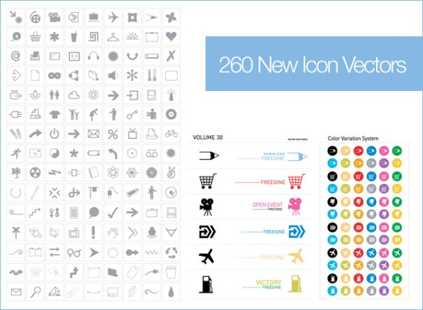 New Icons Vector Pack For Download free in Ai Eps Format