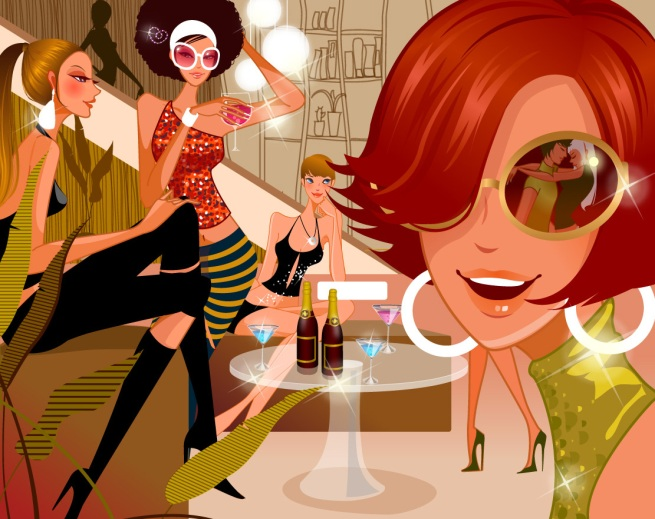 Vector Illustrated - Life Style Girls