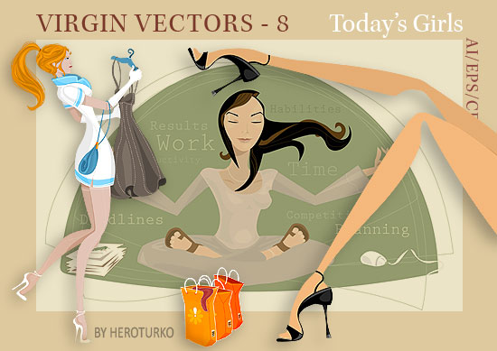 Virgin Vectors 08 - Today's Girls - ai eps vector