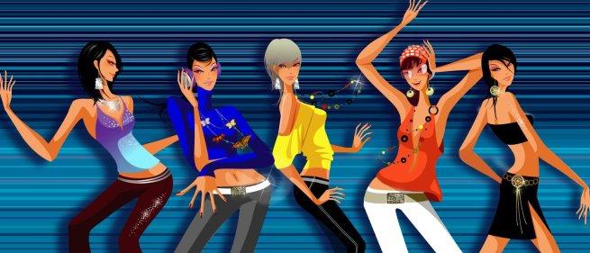vector Fashion illustrations girls2