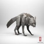 The Paper Fox Project | 3D artwork by Jeremy Kool